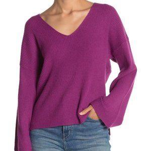 Free Press Purple Sweater Bell Sleeve Oversized M
